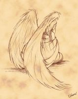 Sorrowful Angel by Eldanis