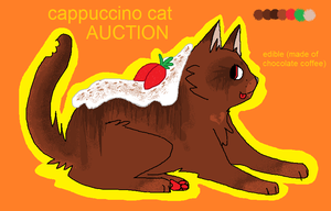 [OPEN] Cappuccino Cat (Auction) by Cherry-Adopts
