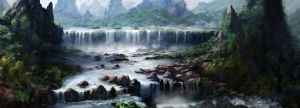 Legendary Waterfall by jjpeabody