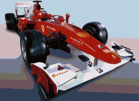 Ferrari F10 Formula One Paint By Number Art Kit by numberedart