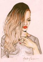Rihanna See Through Dress Ombre by Toblerone22