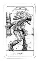FFIX Tarot: 11 Strength by sugerplumfairygirl