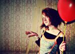 red balloon.. by kumiwi