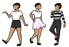 simple outfits by White-pine