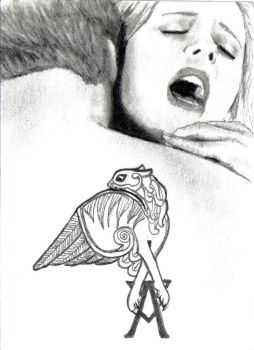 Angel Biting Buffy by Dr-Horrible