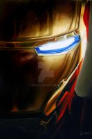 Iron Man Painting by fishgal