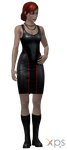 Default Femshep ME3 dress with boots for XPS by Just-Jasper