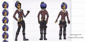 Character Ref Sheet - Captain Anna Frost by StCoraline