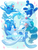 Popplio Evolution line by vapidity