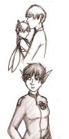 Artemis Fowl doodlings by Kayoska