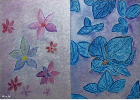 Postcard - both sides (blue flower) by ma-ry2004