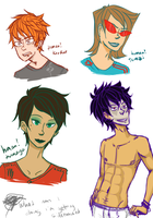 human!Karkat , Kanaya, Terezi and Gamzee by Mistakes13