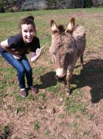 Me and Meh Donkey by livdrummer