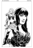 Xena 03 Cover by FabianoNeves