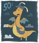 Dragonite Stamp by sketchinthoughts