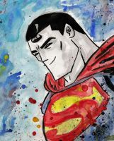 Sketchy Superman by memorypalace