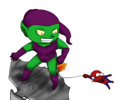 spidey and goblin by young-rain