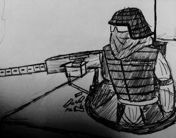 Mounted gunner by TheCommissarFangirl