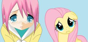 Sad Fluttershys by Evey-chan