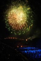 Military Tattoo fireworks 1 by wildplaces