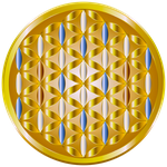 The Golden Flower of Life by DeeViggaVectors