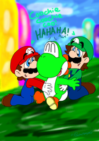 AT:  A ticklish Yoshi by paratroopaCx