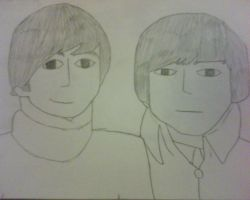 John and George by BeatlesMania6
