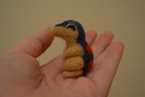 Needle Felted Cyndaquil 2 by feltieflaffy
