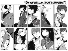 can you guess my fave charas? by kyuuseisha
