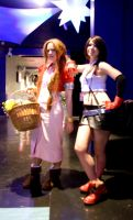 Amecon 2012 Aerith and Tifa by Mangamad