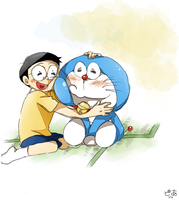 Doraemon and Nobita ver.2 by pianno-ribbon