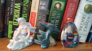 the mermaid, the sea dragon, and the fish by dottypurrs