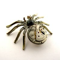 Rustic spider Steampunk Pendant (2) by SteamSect