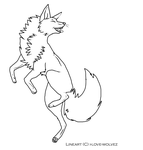 Fox lineart by I-love-wolvez