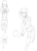 Manami Kimiko Sketches by LuculentSnow