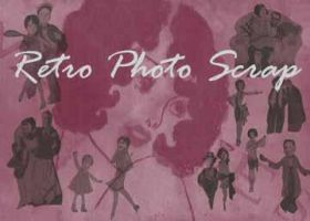Retro Photo Scrap Brushes by twoalone