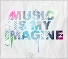 Music is my imagine with paper by Qubsik