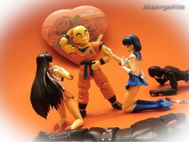 Valentine's Day with Krillin by aliasangel2005
