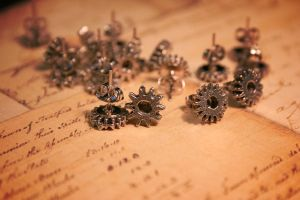 Gearring Studs by turnerstokens