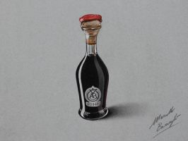 Bottle of Tradition Balsamic Vinegar DRAWING by marcellobarenghi