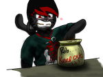 Rob and the cookie jar (caught red handed) by the-inflato