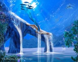Drowned into blue by Dreamhuntress-sims