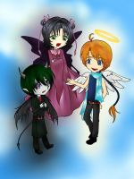 The Winged Trio by Seething-Repentance
