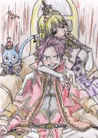 Natsu and Lucy by 52mew
