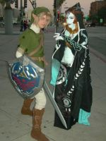 AX 08 Link and Midna by MizunoMirai