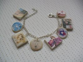 Taylor Swift album charm bracelet/keychain by InsaneJellyBean95