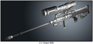 C.C. Sniper Rifle -long barrel by malmida