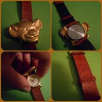 ( The Lion King ) Rare Timex Gold Simba Watch by KrazyKari