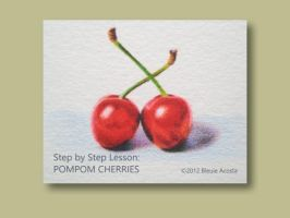 Tutorial: Pompom Cherries by bleuie
