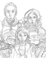 Final Fantasy 12 Larsa, Drace and Gabranth Sketch by michichibi